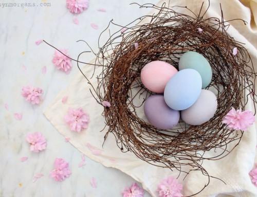 Húsvéti tojás festési technika Annie Sloan színekkel