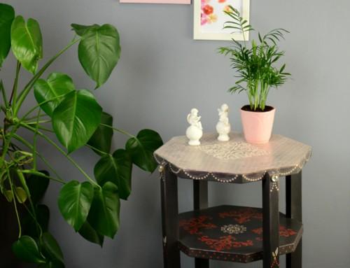 Rögtönzött kisasztal koncepció
