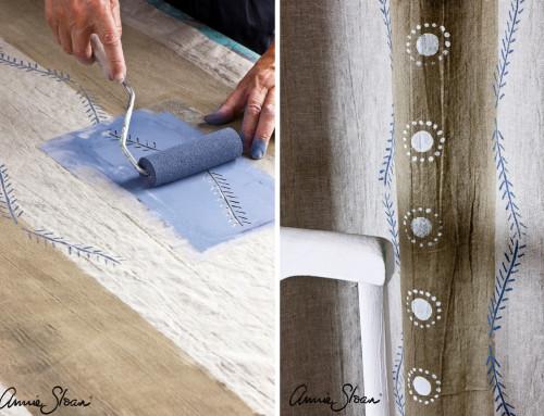 Új függönyök textilfestéssel