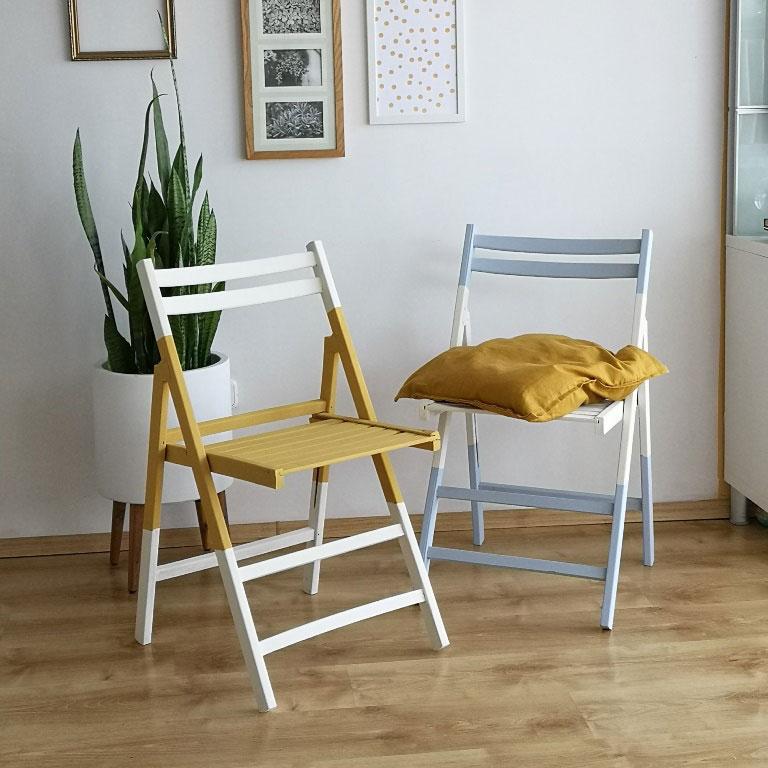 Bútorfestés egyszerűen: szék festés és lakkozás!