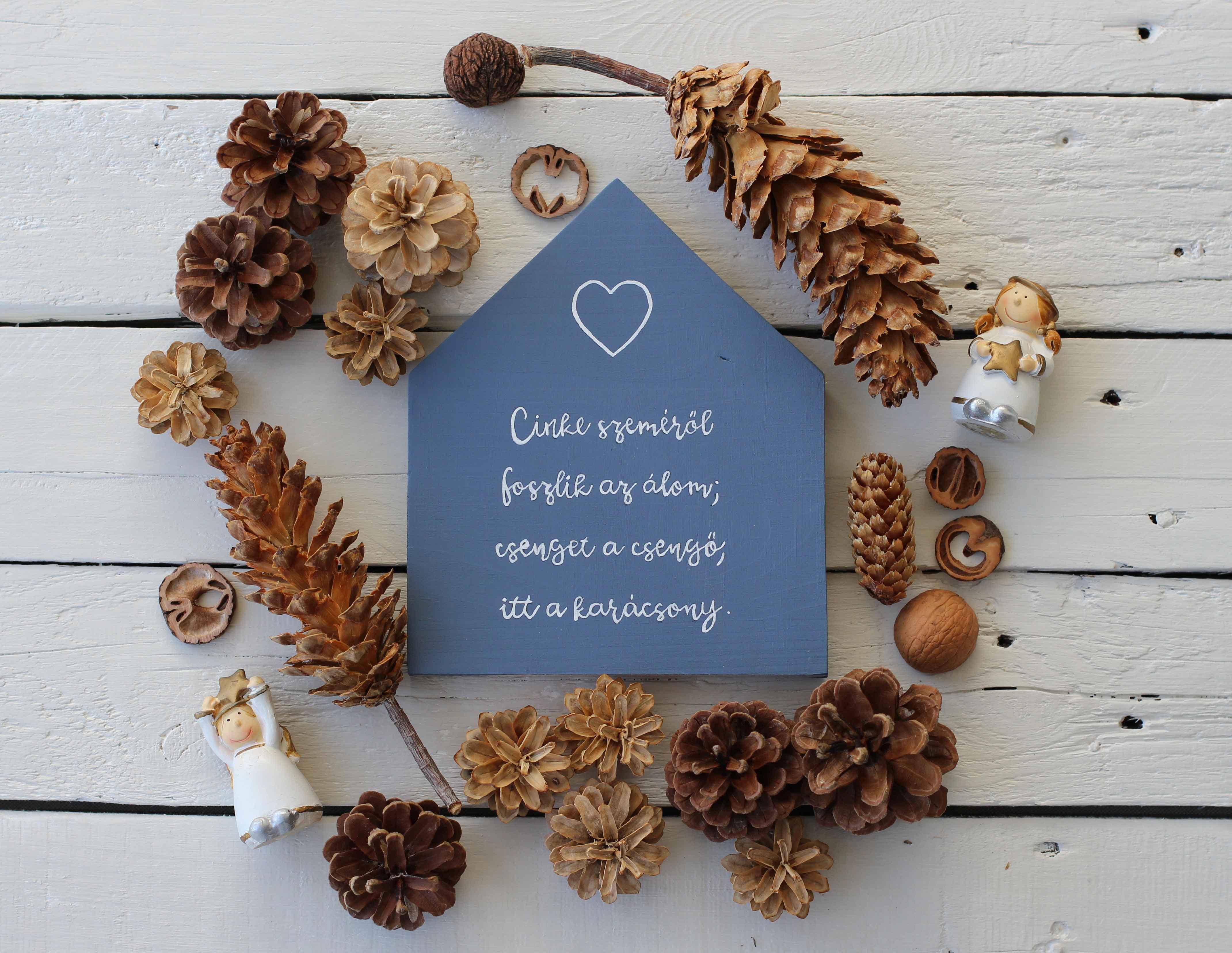 DIY karácsonyi dekor: faházikók skandináv stílusban