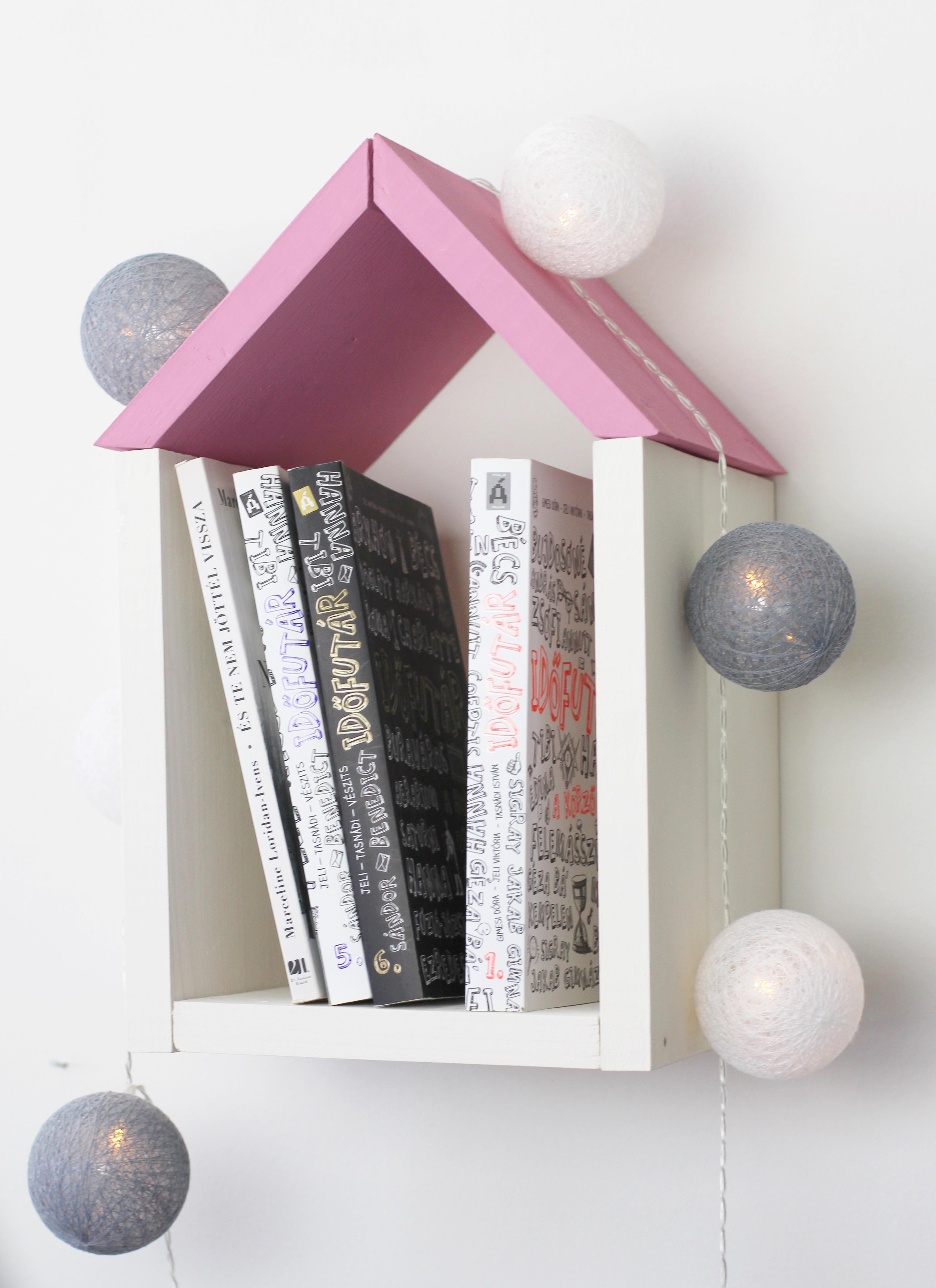 DIY könyves házikó kis könyvmolyoknak